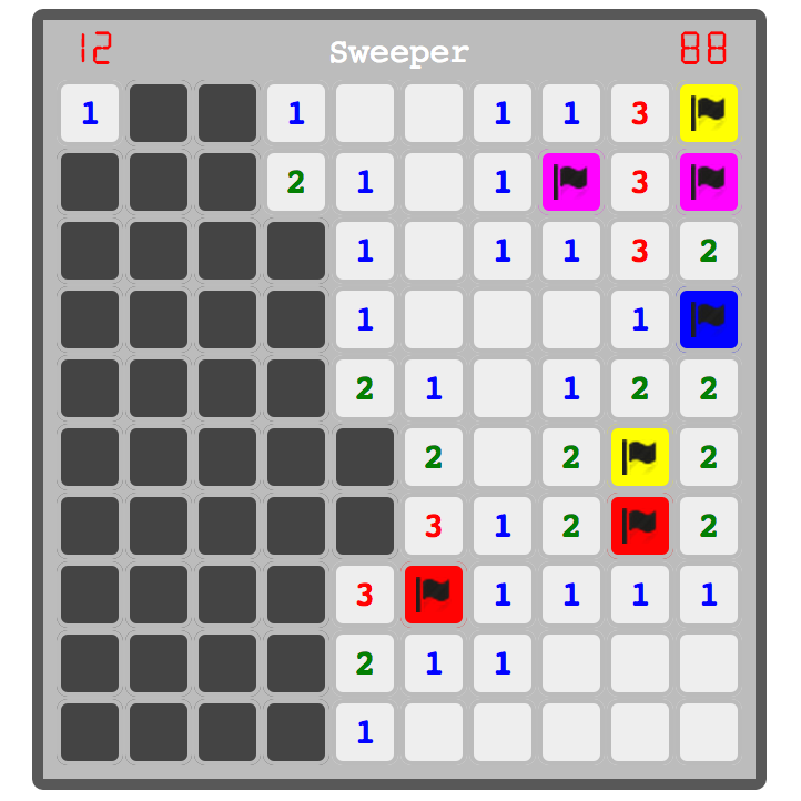 minesweeper in react js